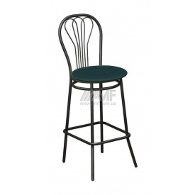 Барный стул AMF Ванесса Хокер Скаден темно-зеленый 420х470х1110 мм черный