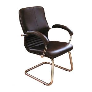 Кресло AMF Ника CF кожа Сплит черная 64x67x100 см хром
