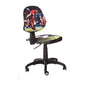 Детское кресло AMF Футбол Спорт 610x610x835 мм черный