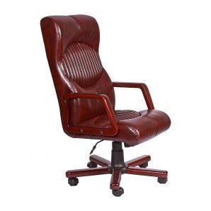 Кресло AMF Геркулес Экстра Мадрас дарк браун 62x82x114 см вишня