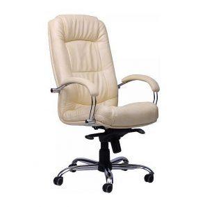 Кресло AMF Марсель Хром МВ  Мадрас ваниль 61x75x114 см