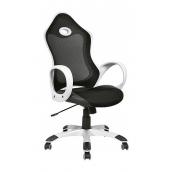 Крісло AMF Матрикс-1 сітка чорна/сітка чорна 69x76x113 см білий