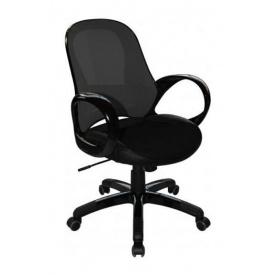 Крісло AMF Матрикс-LB сітка чорна/сітка чорна 65x65x92 см чорний