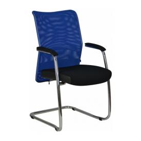 Кресло AMF Аэро CF сетка черная Неаполь N-20/сетка синяя 57x62x96 см хром