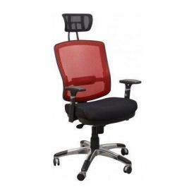 Крісло AMF Коннект HR сітка чорна/сітка червона 70x70x127 см