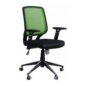 Крісло AMF Онлайн Алюм сітка чорна/сітка салатова 65x65x93 см