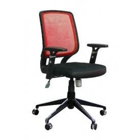 Крісло AMF Онлайн Алюм сітка чорна/сітка червона 65x65x93 см