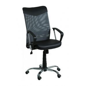 Кресло AMF Аэро HB сетка черная Неаполь N-20/сетка черная 64x75x104 см вставка Неаполь N-20