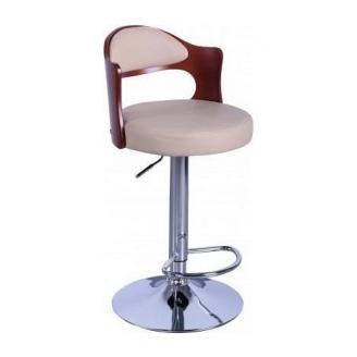 Барный стул AMF Париж к/з бежевый (FT-750) 465х430х865-1070 мм