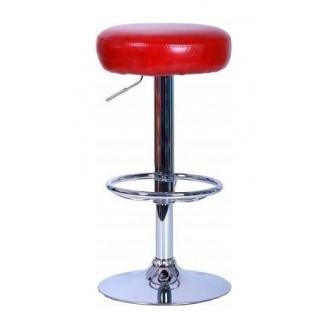 Барный стул AMF Рондо Лаки красный 385х385х620-860 мм хром