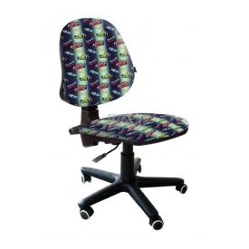 Детское кресло AMF Актив Машинки 590x590x850 мм синий