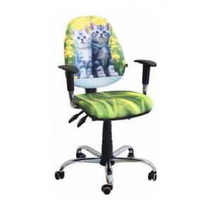 Кресло детское AMF Бридж Котята 650х650х1090 мм хром
