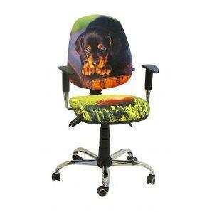Кресло детское AMF Бридж Щенок 650х650х1090 мм хром