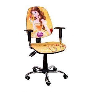 Кресло детское AMF Бридж Дисней Белль 650х650х1090 мм хром