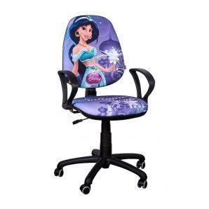 Кресло детское AMF Бридж Дисней Принцесса Жасмин 650х650х1090 мм хром