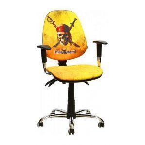 Кресло детское AMF Бридж Дисней Пираты Карибского моря Веселый Роджер 650х650х1090 мм хром