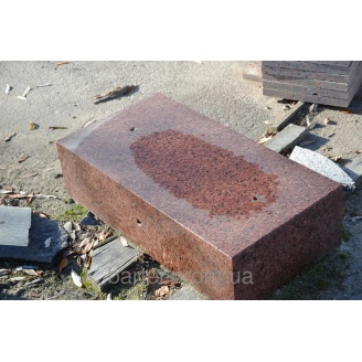 Бордюр ГП-5 из гранита красных оттенков
