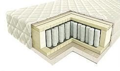 Описание: Пружинный ортопедический матрас с независимым пружинным блоком 700 пр./кв.м. Пружины компонованы в виде пчелиных сот.