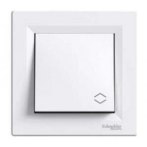 Выключатель одноклавишный Schneider Electric Asfora EPH0400121 проходной белый