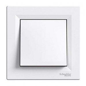 Переключатель одноклавишный Schneider Electric Asfora EPH0500121 перекрестный белый