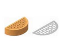 Фасонный клинкерный кирпич Керамейя КлинКЕРАМ Классика ЖЕМЧУГ Ф20 36% 250x120x65 мм