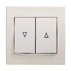 Выключатель для жалюзи Schneider Electric Anya AYA1300123 81,5х81,5х42 мм кремовый