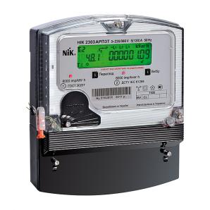 Счетчик электроэнергии NIK 2303 АT1T M трехфазный электронный 3х100В