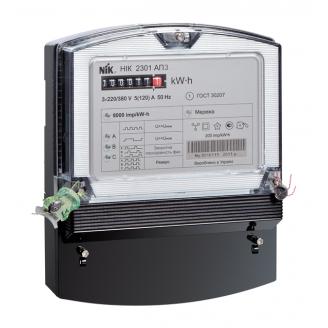 Счетчик электроэнергии NIK 2301 АП2В трехфазный электромеханический 3х220/380В