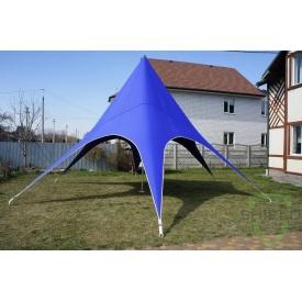 Шатер для презентаций Shield в форме звезды 8,6х5 м синий