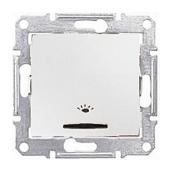 Выключатель кнопочный Schneider Electric Sedna SDN1800121 Свет с подсветкой белый