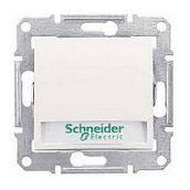 Выключатель кнопочный Schneider Electric Sedna SDN1600323 с надписью и подсветкой слоновая кость