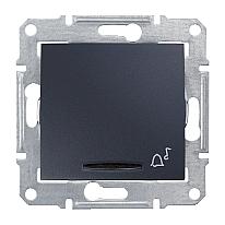 Выключатель кнопочный Schneider Electric Sedna SDN1600470 Звонок с подсветкой графит