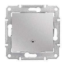 Выключатель одноклавишный Schneider Electric Sedna SDN0900160 Свет 71х71х42 мм алюминий
