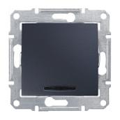 Переключатель перекрестный Schneider Electric Sedna SDN0501170 с синей подсветкой графит