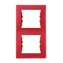 Рамка двухместная Schneider Electric Sedna SDN5801141 вертикальная 152х80х7 мм красный