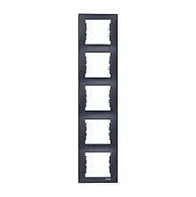 Рамка пятиместная Schneider Electric Sedna SDN5801570 вертикальная 366х80х7 мм графит