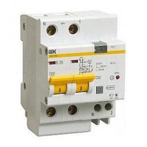 Дифференциальный автомат IEK АД12M 2Р 25 А 30 мA
