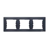 Рамка трехместная Schneider Electric Sedna SDN5800570 горизонтальная 80х228х7 мм графит