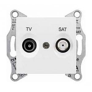 Розетка TV-SAT Schneider Electric Sedna SDN3401621 конечная 70х64х40 мм белый