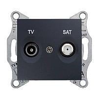 Розетка TV-SAT Schneider Electric Sedna SDN3401670 конечная 70х64х40 мм графит
