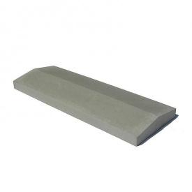 Крышка на забор 1000х400х65 мм серое