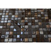 Мозаика мрамор стекло VIVACER 1,5х1,5 DAF17, 30х30 cм