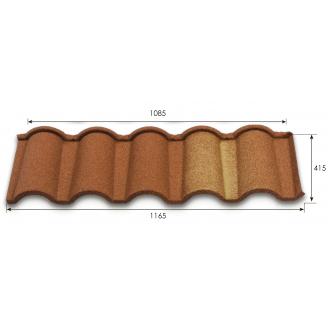 Композитна черепиця Metrotile Metroromana 1165*400 мм red-brown