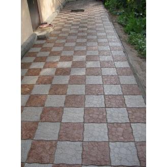 Тротуарная плитка Горная дорога 295х295х30 мм коричневый мрамор