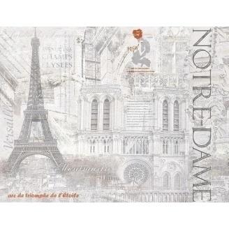 Декор-панно Inter Cerama CEMENTIC 46x60 см сірий