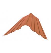 Конькова деталь Керамопласт 1200x250x5 мм коричневий