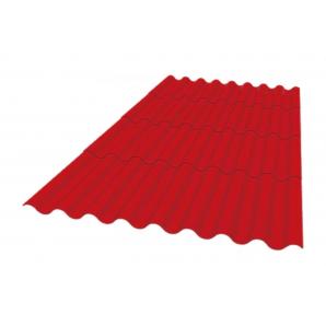 Покрівельний матеріал Керамопласт Каскад 1880x870x5 мм червоний