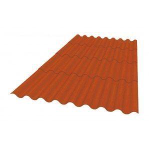 Кровельный материал Керамопласт Каскад 1880x870x5 мм коричневый