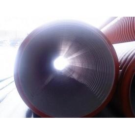 Двошарова гофрована каналізаційна труба 200 мм SN-8