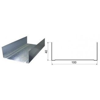 Профиль UW100 для гипсокартонных систем 0,55 мм